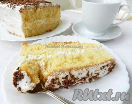 бисквитный торт с творожным кремом фото рецепт