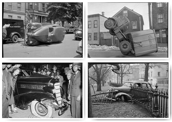 Фото подборка аварий на дорогах Америки в 1930—1950 годах