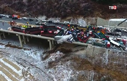 В Китае жертвами столкновения 56 автомобилей стали 17 человек