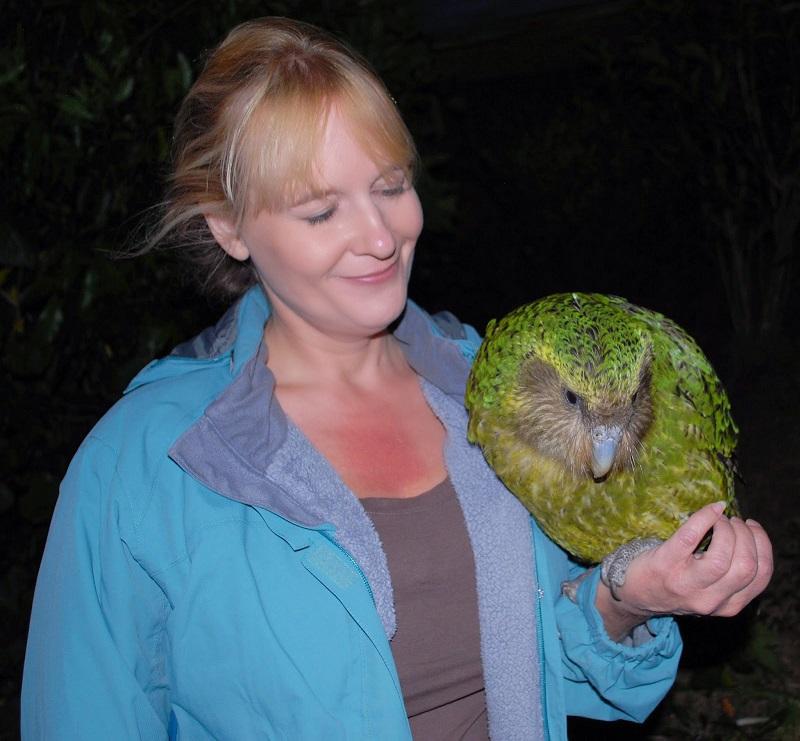 Какапо - нелетающий попугай из Новой Зеландии