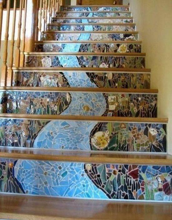 Нестандартное оформление лестниц