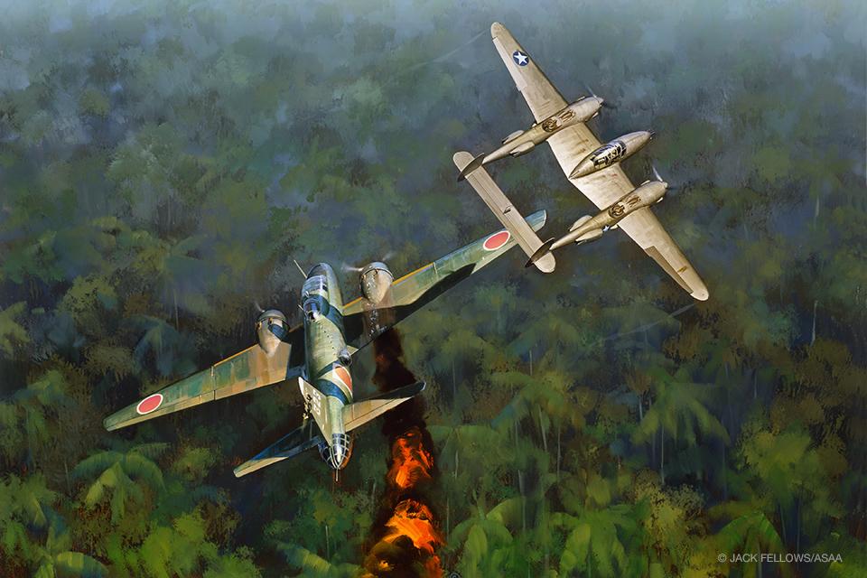 18 апреля 1943 года состоялась операция «Месть»: ликвидация главнокомандующего японским флотом адмирала Ямамото