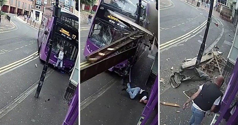 Сбитый автобусом мужчина поднялся и пошел в пивной бар