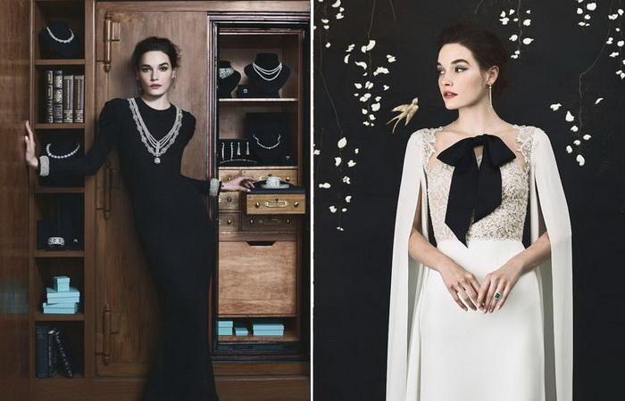 Свадебные наряды от Рим Акра по мотивам маленького черного платья Одри Хепберн