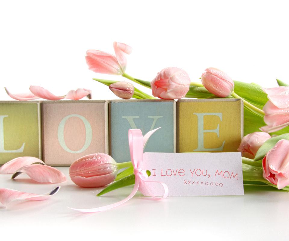 drops, tulips, petals, flowers, love, цветы, тюльпаны, любовь, записка, кубики, лепестки