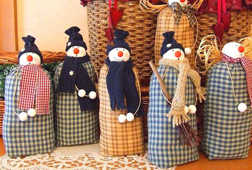 снеговики из мешочков