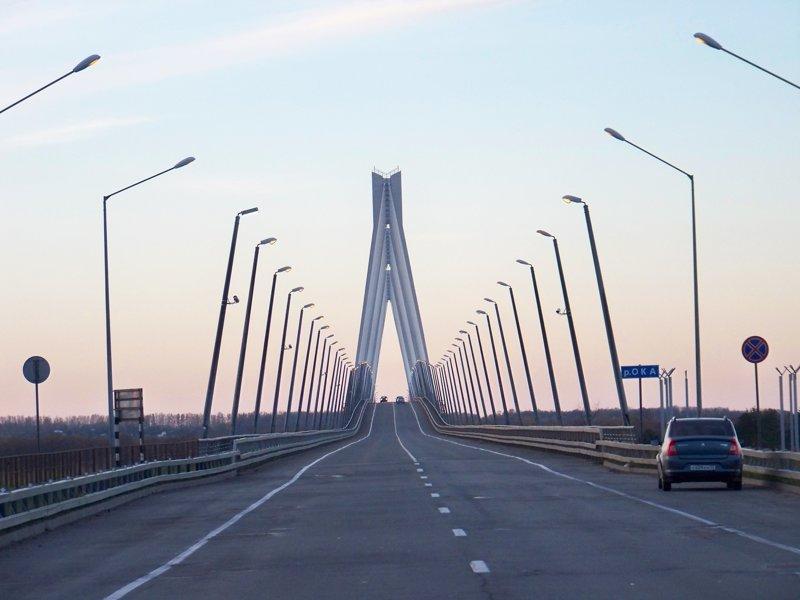 Вантовый мост через Оку Города России, Илья Муромец, Муром, красивые места, пейзажи, путешествия, россия