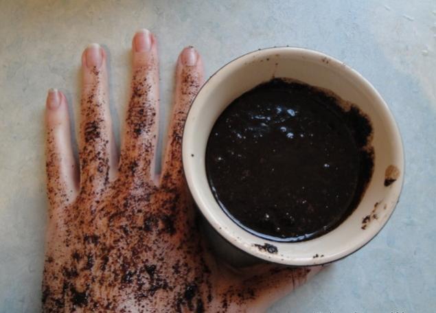 Кофейный скраб для рук