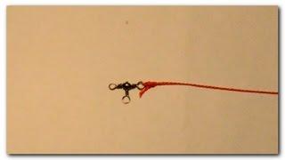Как привязать вертлюжок? Интересный узел