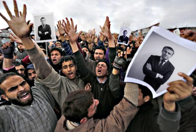 Макрон въедет в Елисейский дворец на плечах мигрантов и джихадистов