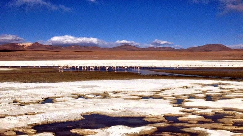 LagunaColorada04 Кровавая лагуна в Боливии