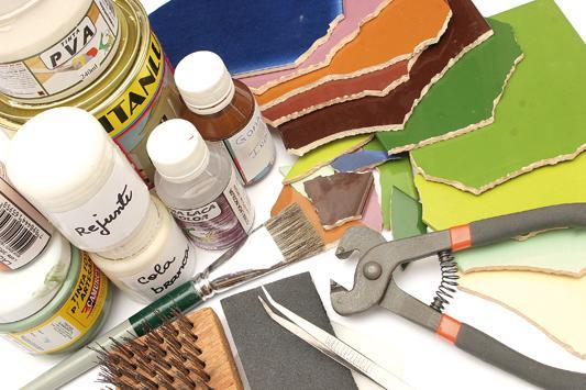 Мозаика лавки: мастер класс