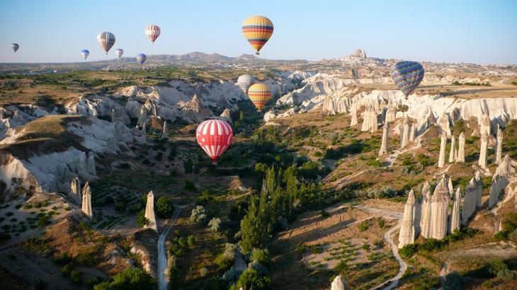 Долина Земи в Каппадокии. Турция. Фото