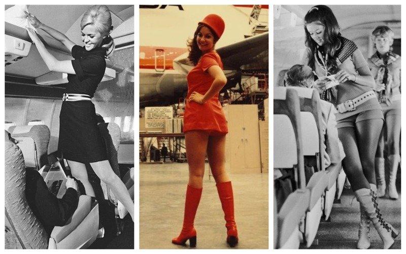 Как раньше обслуживали в воздухе: обворожительные стюардессы прошлого