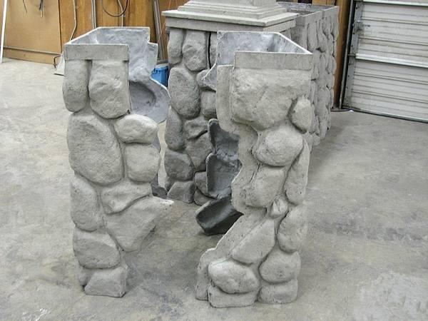 Фасадные панели под камень на углы и колоны