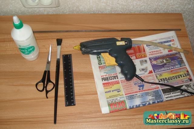 Плетение из газет Корзинка своими руками Мастер класс с пошаговыми фото