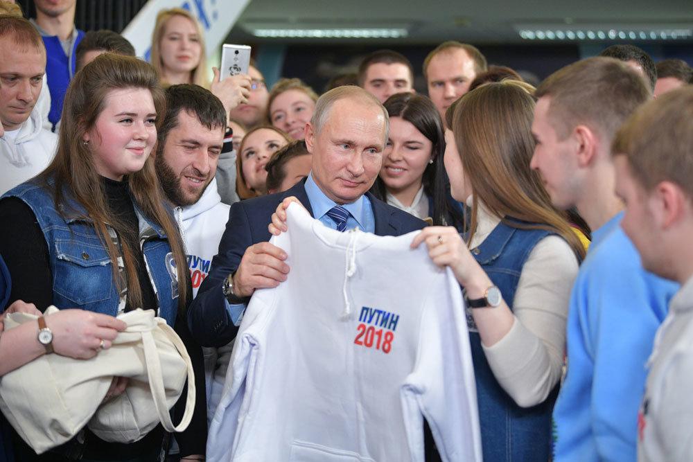 В Гостином Дворе заработал избирательный штаб Владимира Путина