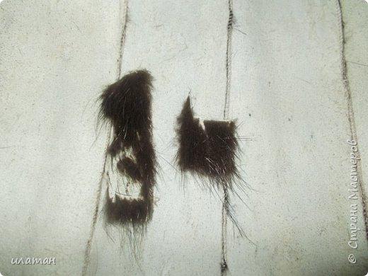 Гардероб Мастер-класс Шитьё Ремонт шубы из натурального меха Клей Мех Нитки Ткань фото 4