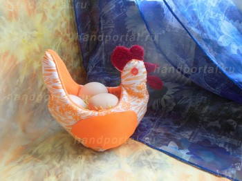 Пасхальные курочки своими руками из ткани с выкройкой