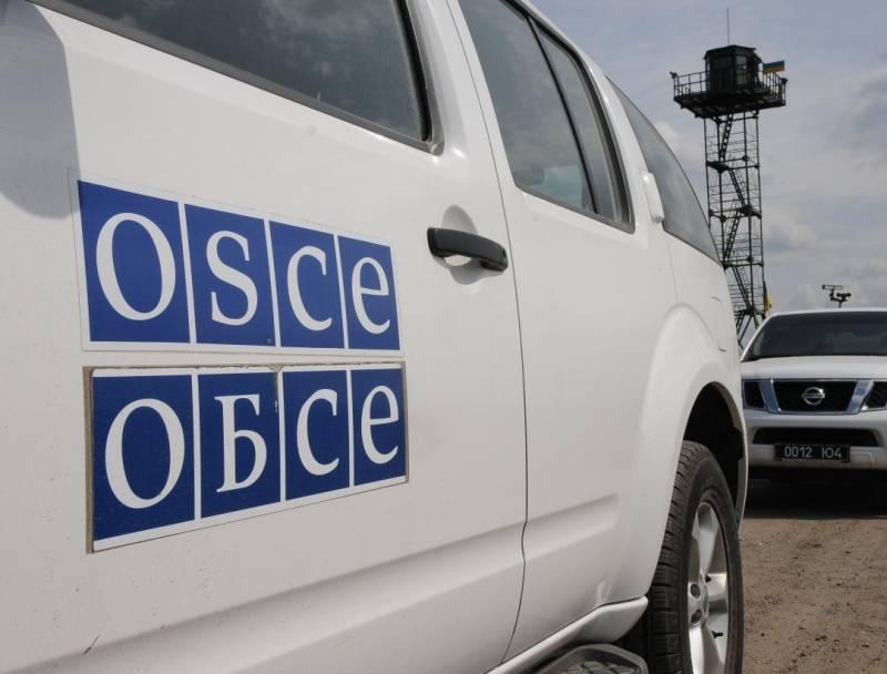 В Донбассе подорвалась машина ОБСЕ