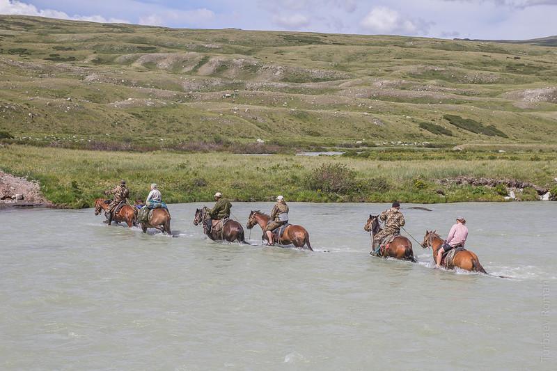 Переправа на лошадях через Ак-Алаху алтай, путешествия, россия, укок, фото