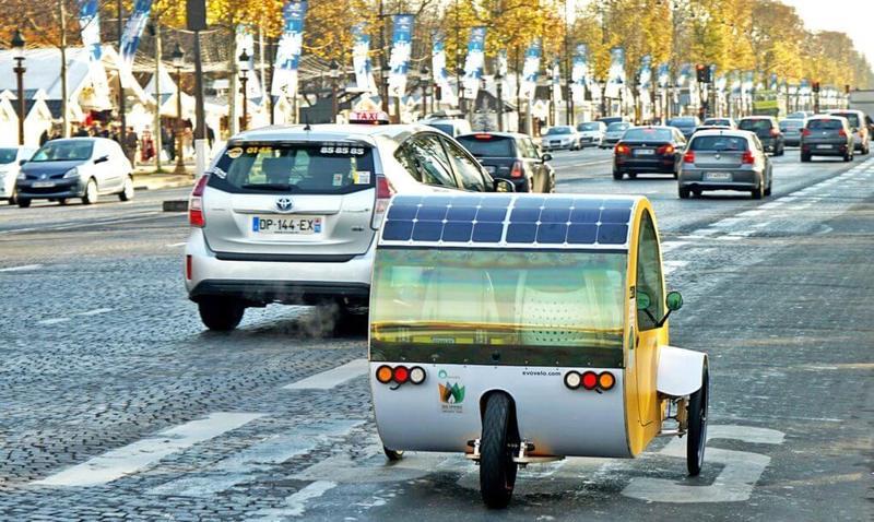 Крошечный трицикл на солнечных батареях