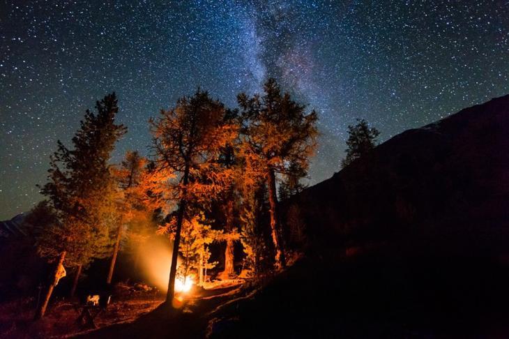 Красоты России. Миллионы звезд над Алтаем