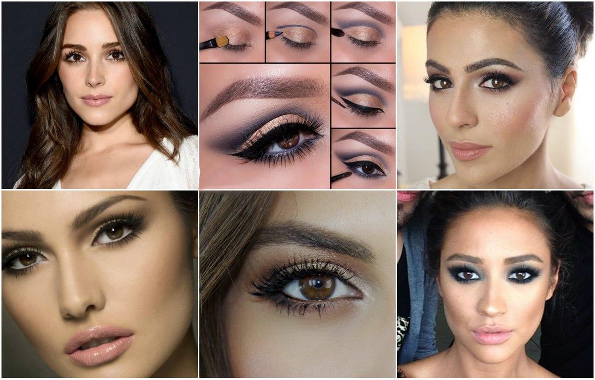 Спокойный макияж для карие глаз
