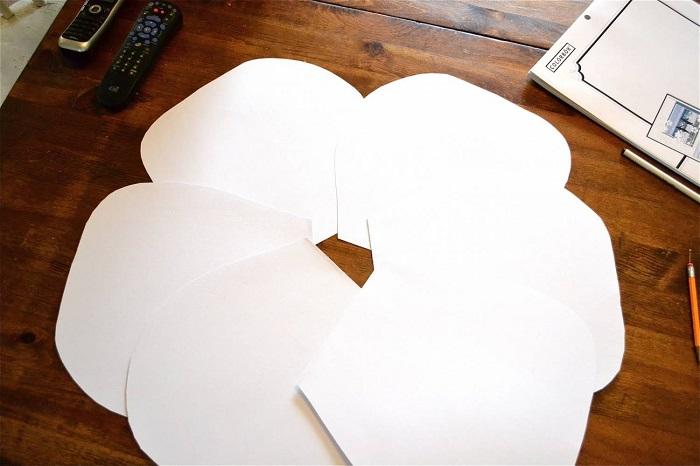 бумажные цветы оформление