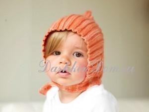 вязаная шапочка эльф для малыша