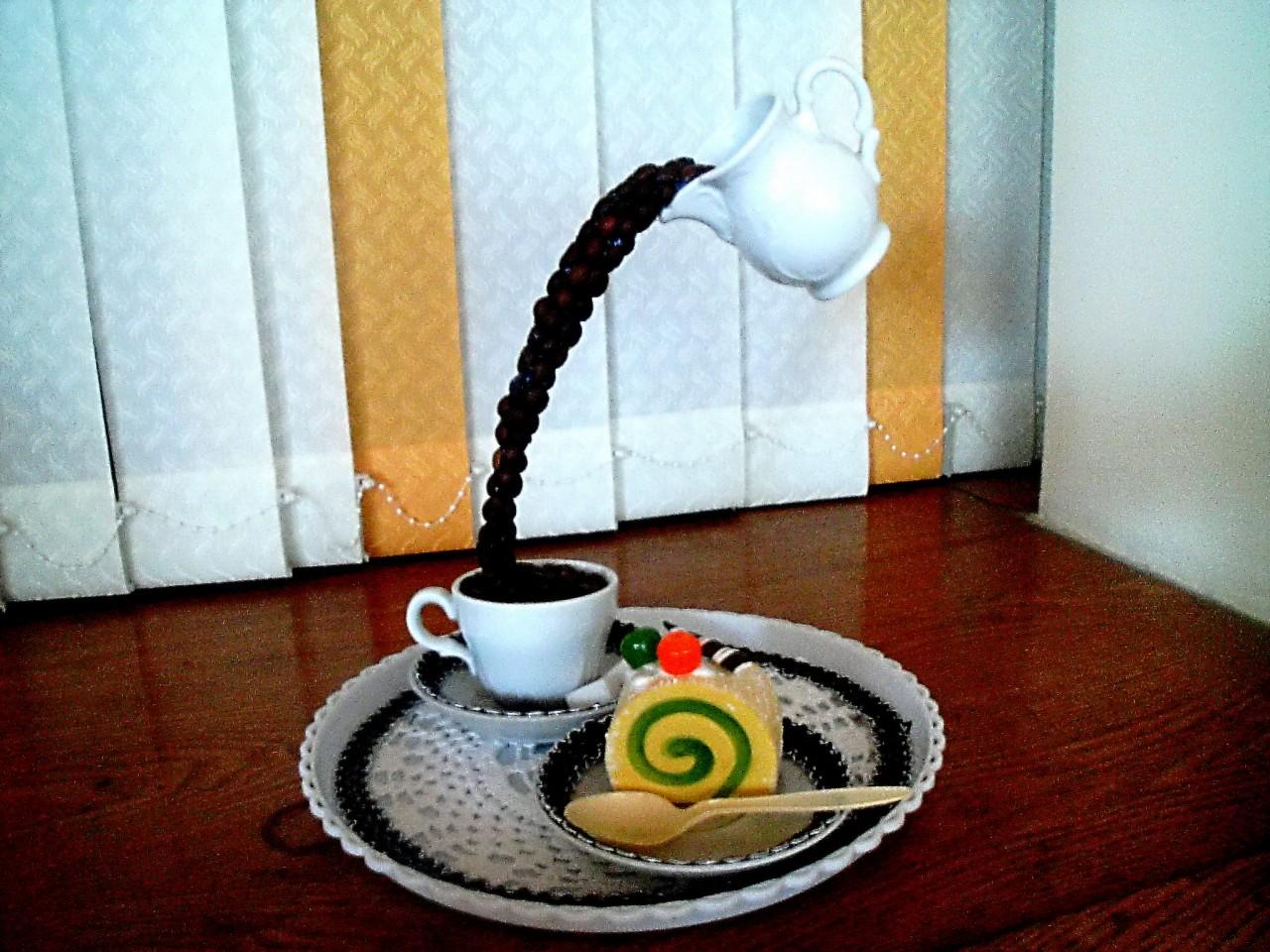 Перевернутая кружка с кофе своими руками 35