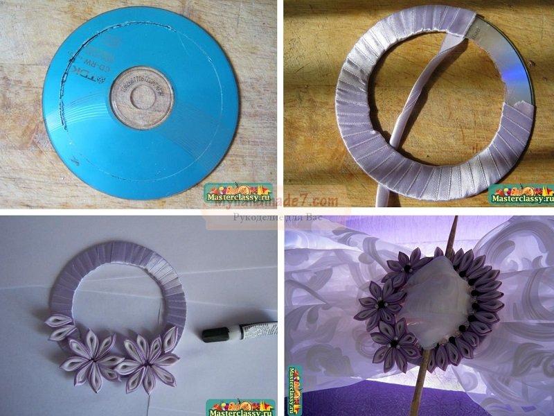 Как сделать диск для цветков 166