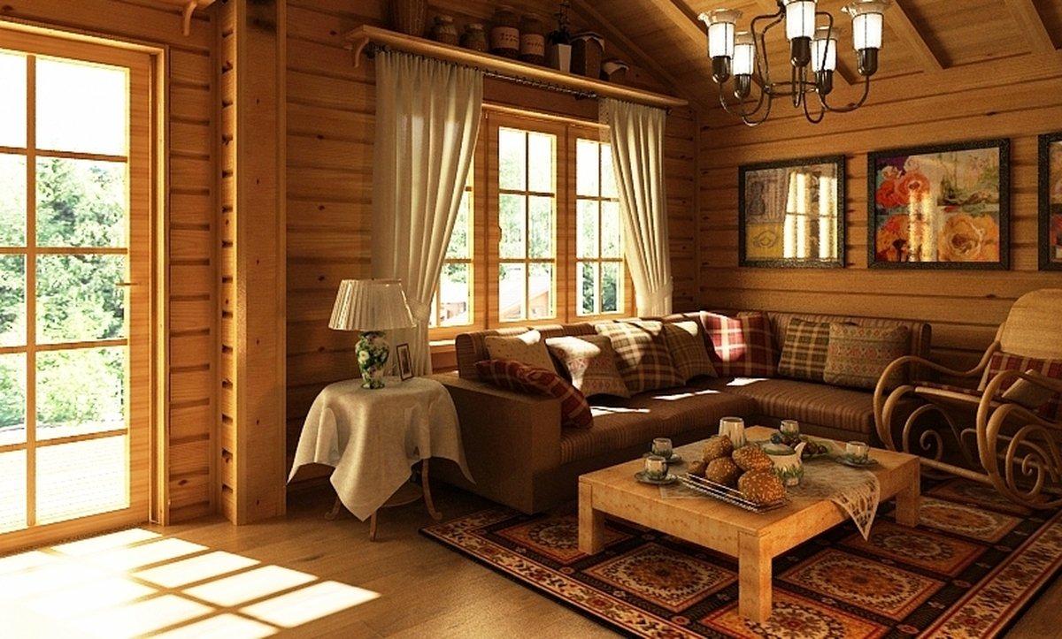 Дизайн дачи внутри дома