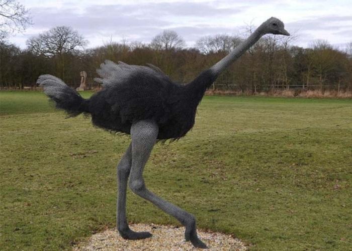 Проволочный страус от Kendra Haste.
