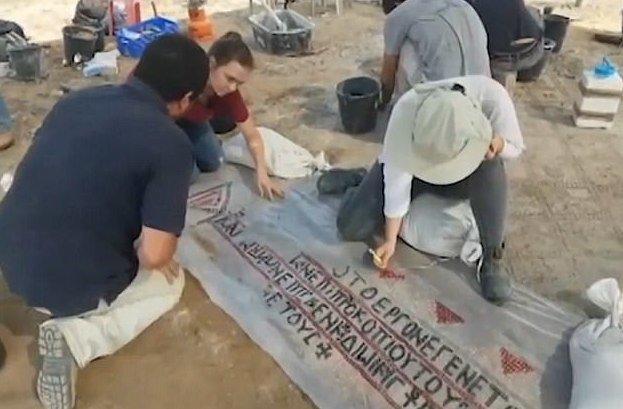 В древнем монастыре найдена мозаика, которой 1500 лет