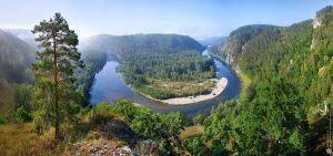 Река Белая. Башкортостан. Россия