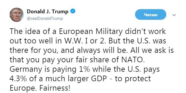 Трамп вновь упрекнул Германию в