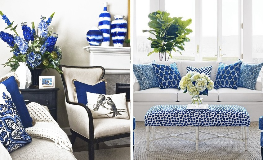 Ярко-синий декор в интерьере: 35 восхитительных примеров