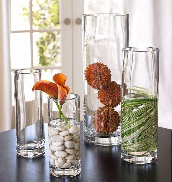 Декор стеклянной вазы своими руками