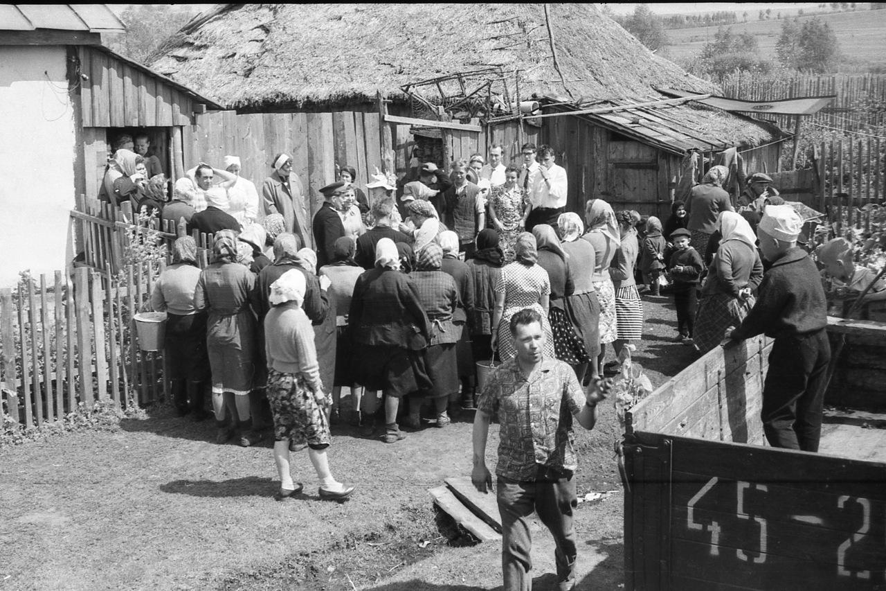 Сельская свадьба в Рязанской области. СССР . 1964 г.