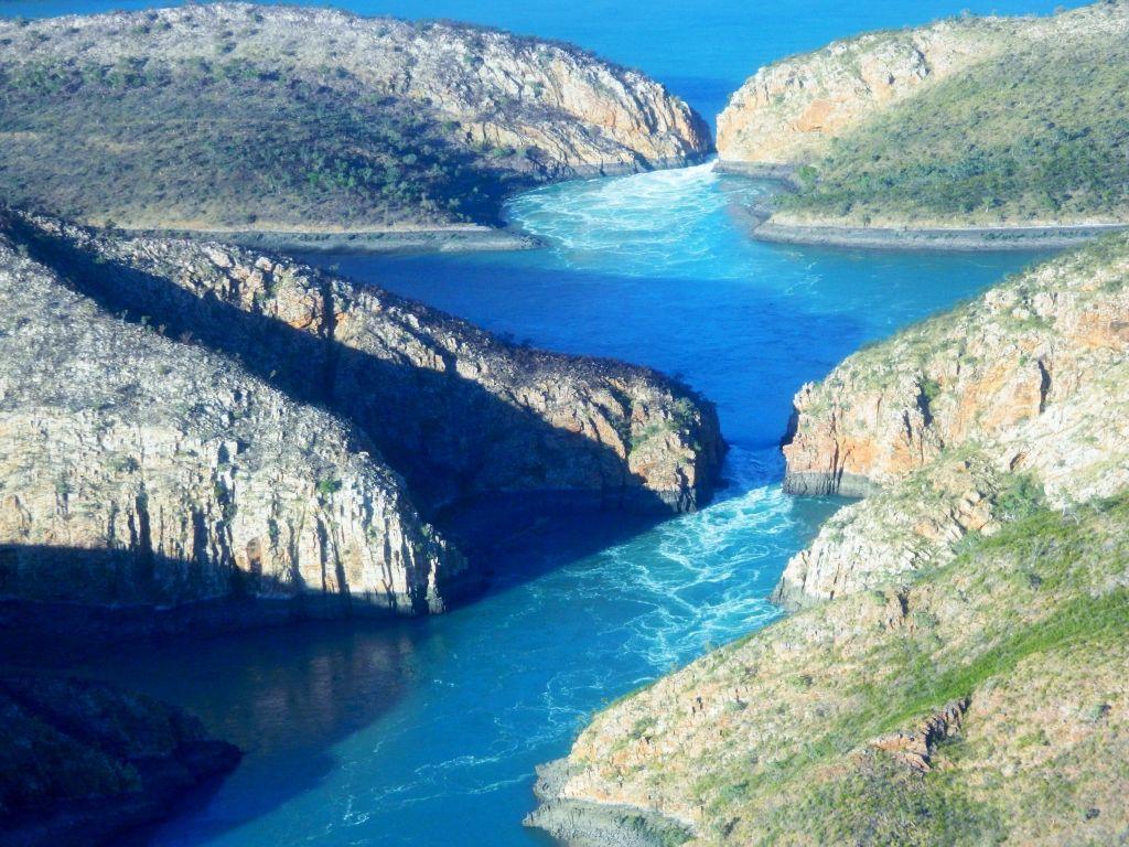 Горизонтальный водопад в заливе Толбот, Австралия