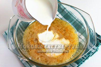 Теста для блинов на молоке и кипятке