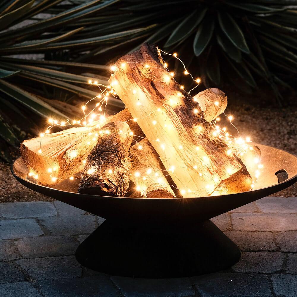 Картинки по запросу christmas lights in fire pit