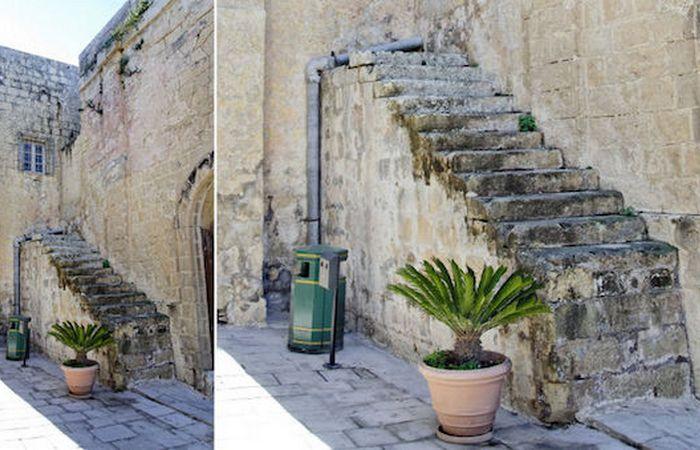 Необычные мальтийские лестницы.