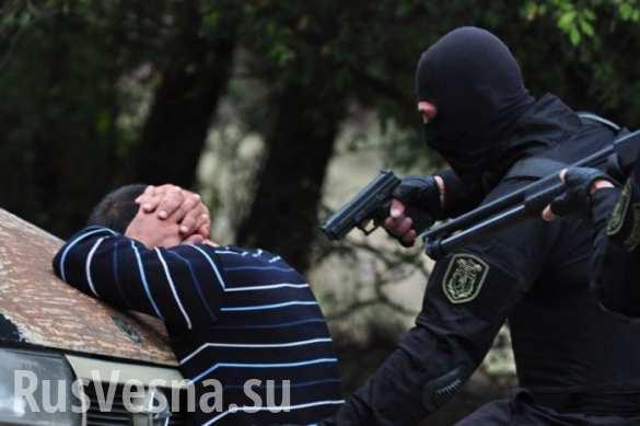 Задержание украинских боевиков-неонацистов в Тбилиси
