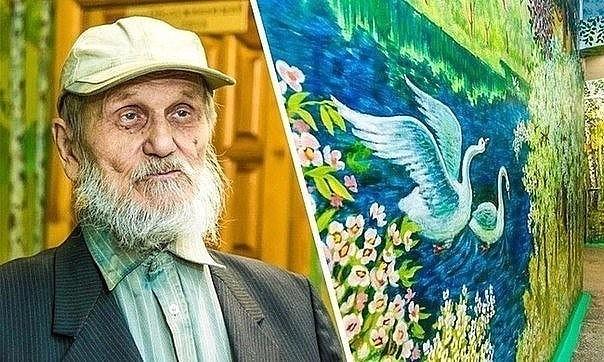90-летний сторож-энтузиаст превратил школу в картинную галерею