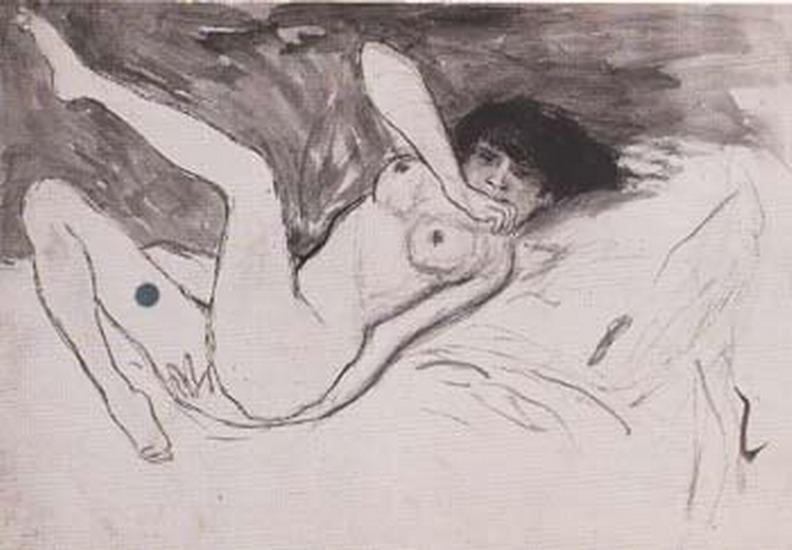 Пабло Пикассо. Лежащая обнаженная. 1902 год