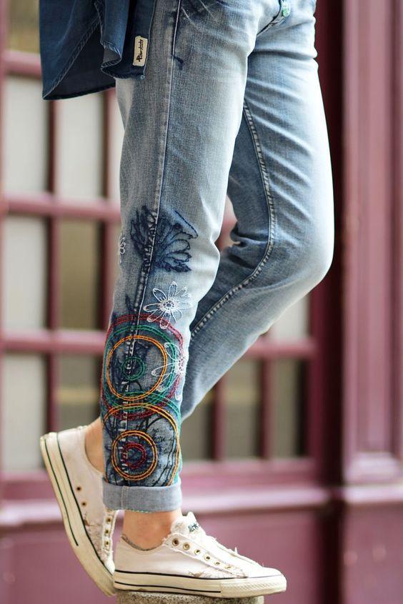 Дизайнерские джинсы женские своими руками 61