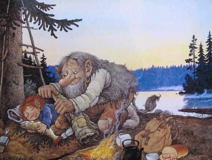 Добрые тролли в иллюстрациях шведского художника.