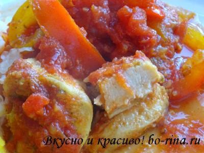 ПОХУДЕЙКИНО ПИТАНИЕ. Куриная грудка с болгарским перцем и томатами